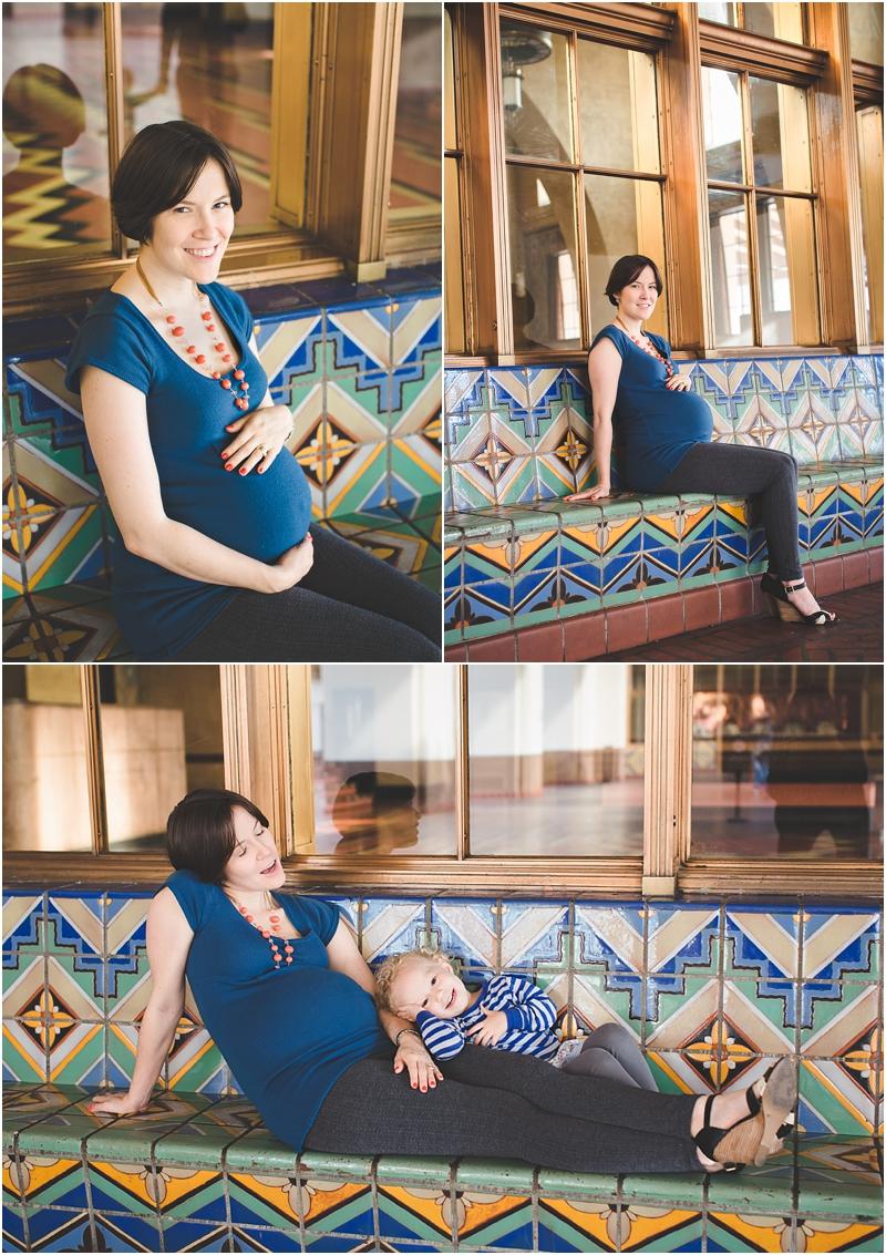Los Angeles pregnancy photos, Los Angeles maternity photos, family photos, union station family photo session, union station maternity session, train station family photos
